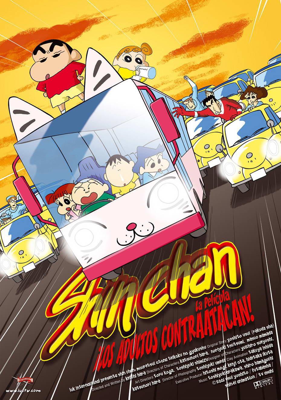 Cartel España de 'Shin Chan: ¡Los adultos contraatacan!'