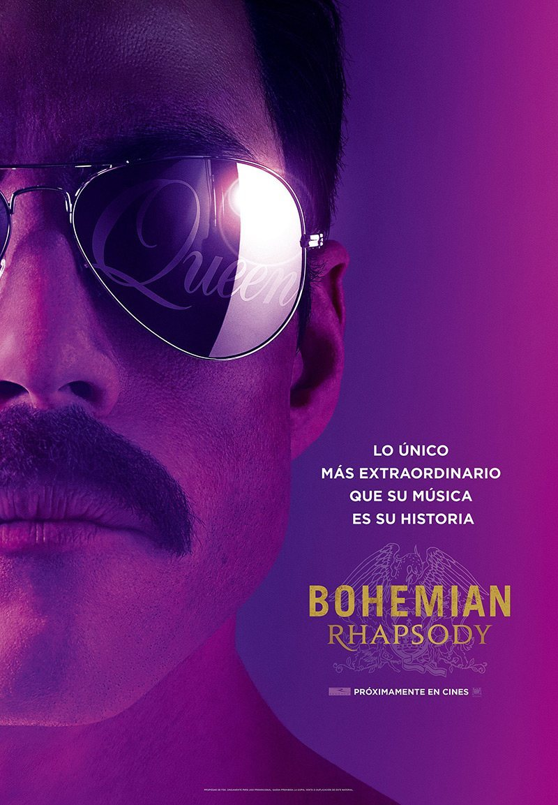 Cartel Póster España de 'Bohemian Rhapsody'
