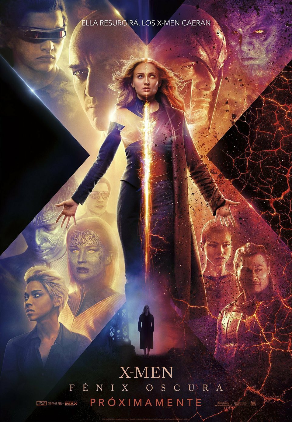 Cartel Póster español de 'X-Men: Fénix Oscura'