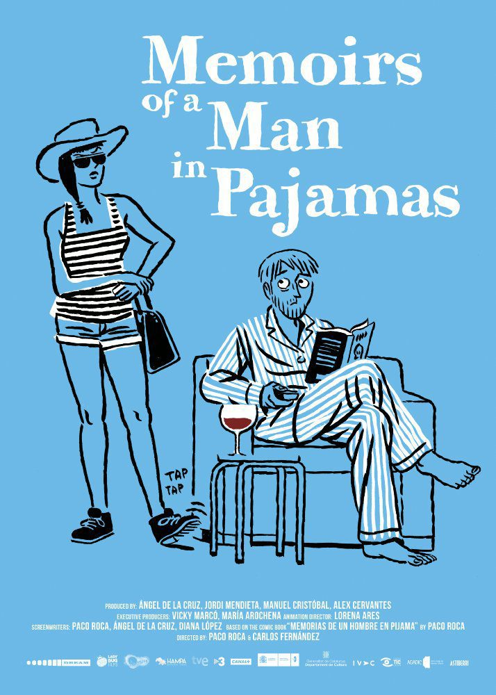 Cartel Memoirs of a Man in Pajamas de 'Memorias de un hombre en pijama'