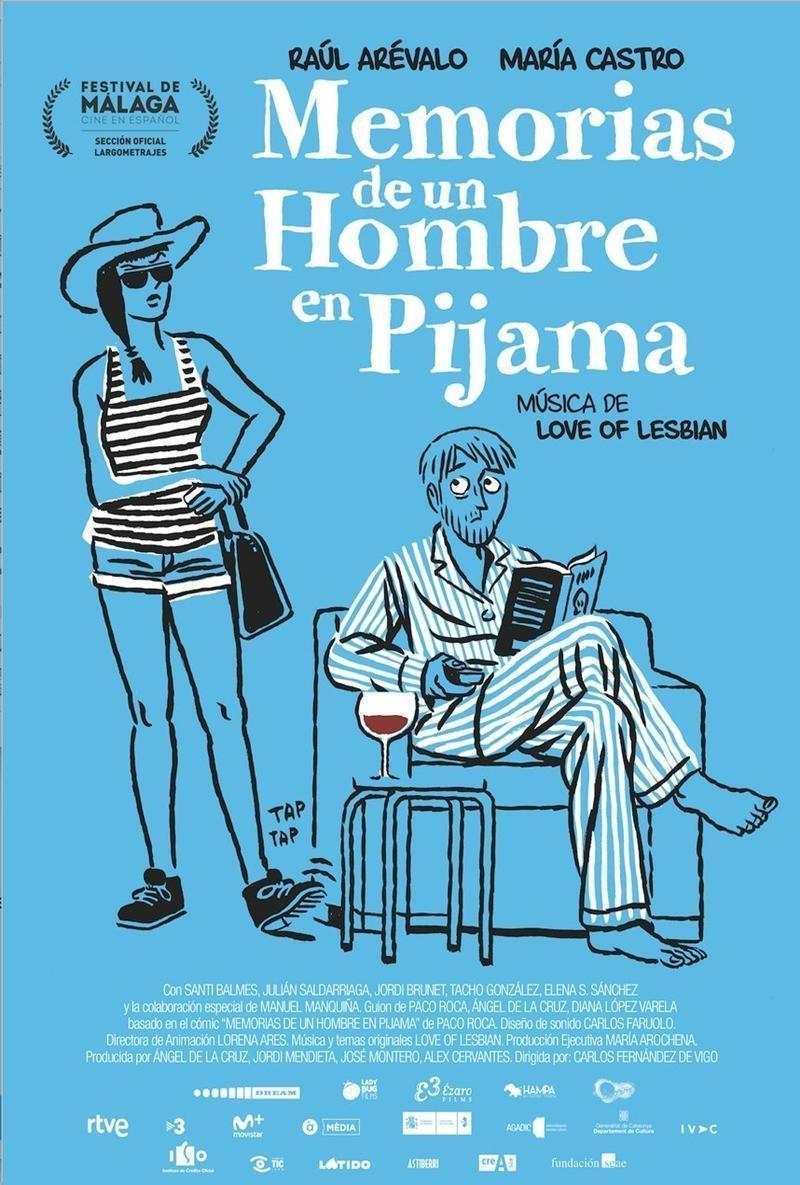 Cartel Memorias de un hombre en pijama de 'Memorias de un hombre en pijama'