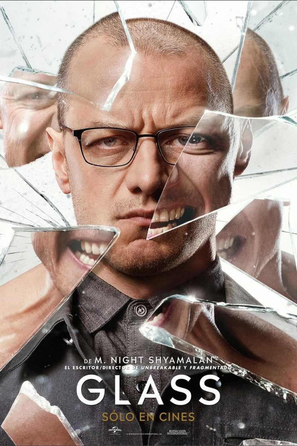 Cartel James Mcavoy de 'Glass (Cristal)'