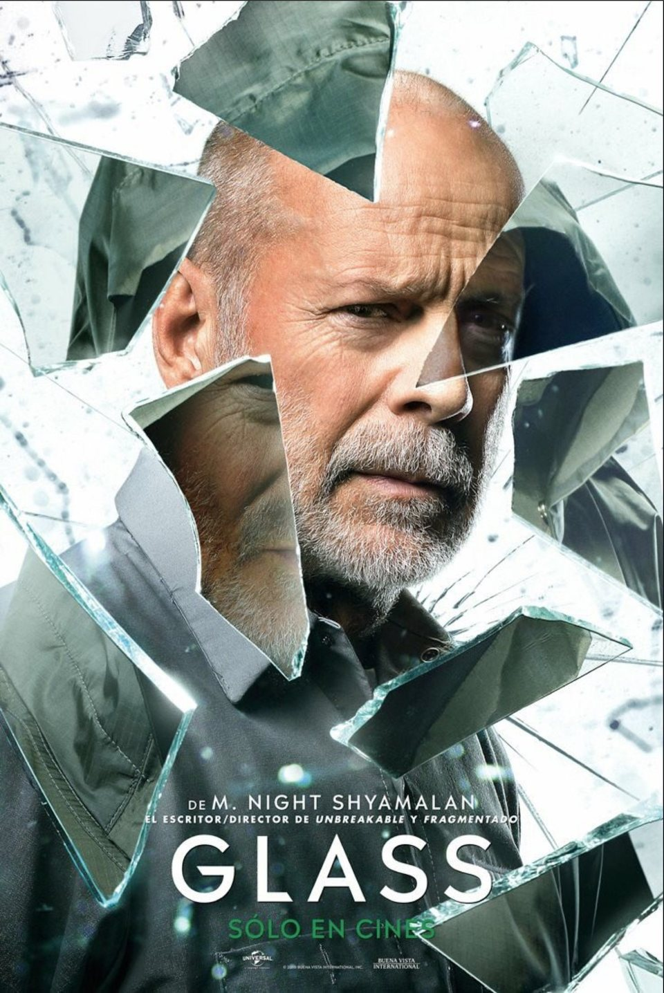 Cartel Bruce Willis de 'Glass (Cristal)'