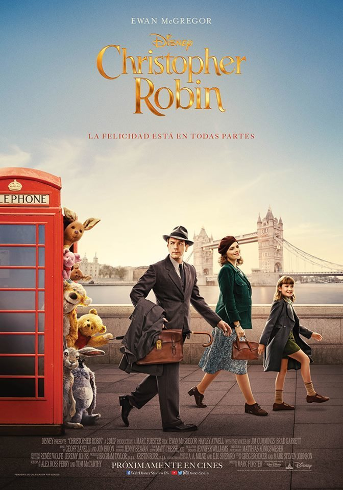 Cartel Póster final España de 'Christopher Robin'