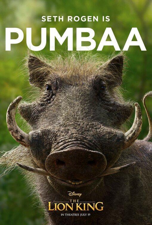 Cartel Pumba de 'El Rey León'