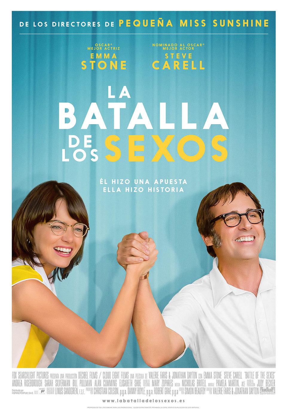 Cartel España de 'La batalla de los sexos'