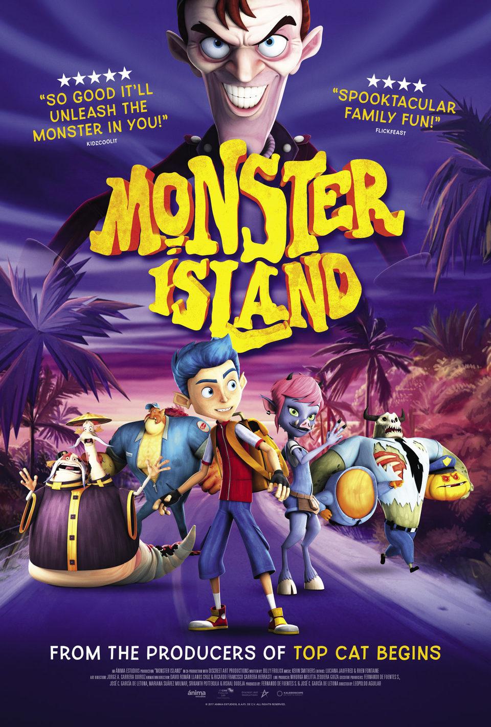 Cartel UK de 'La isla de los monstruos'