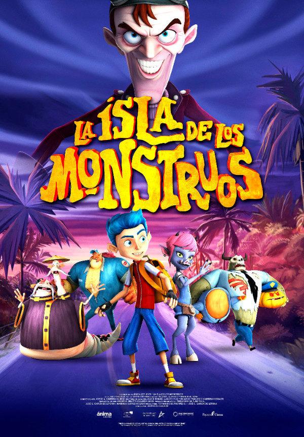 Cartel ESPAÑA de 'La isla de los monstruos'