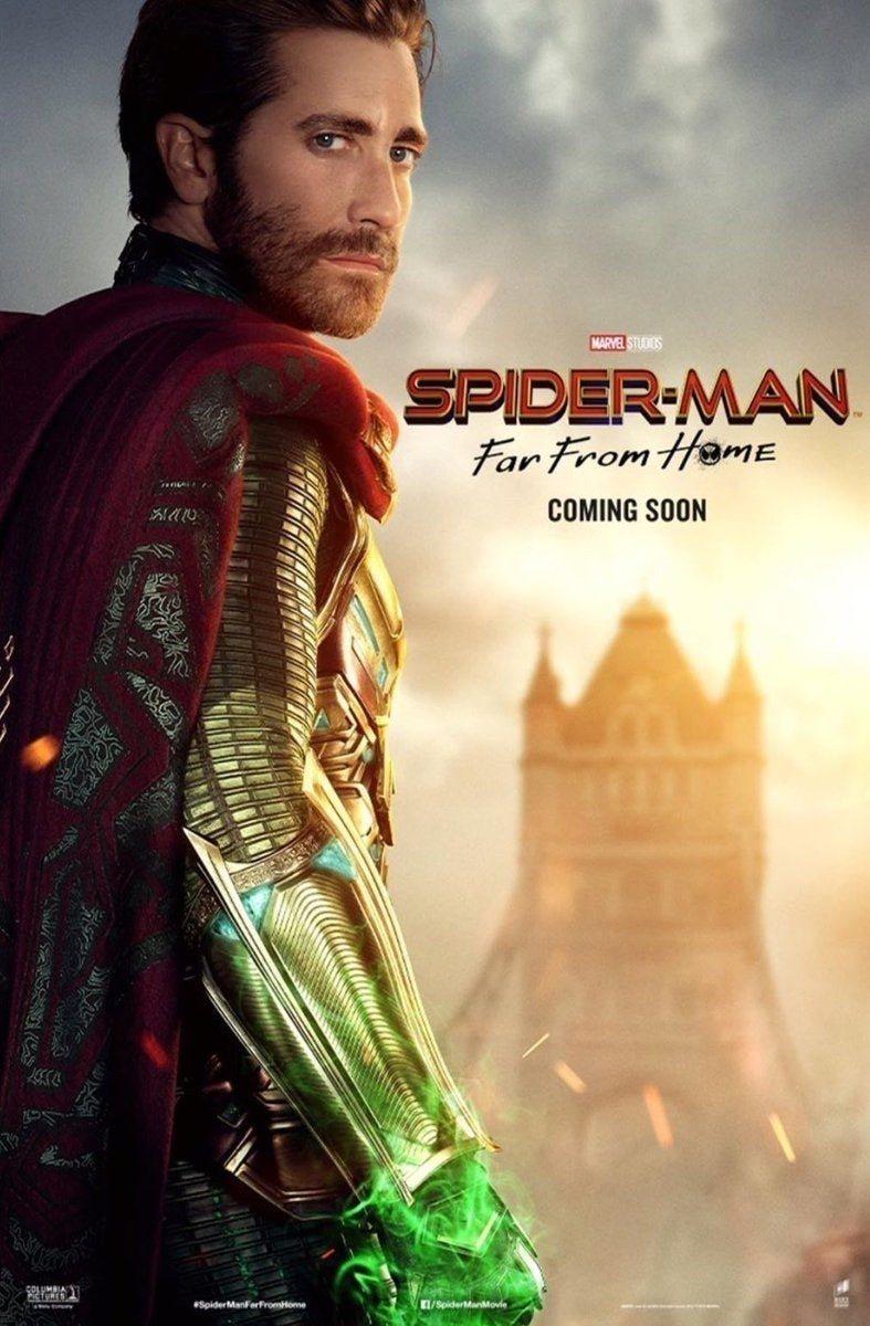 Cartel Jake Gyllenhaal de 'Spider-Man: Lejos de casa'