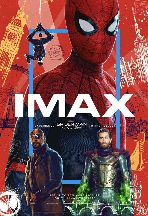 Cartel EEUU IMAX de 'Spider-Man: Lejos de casa'