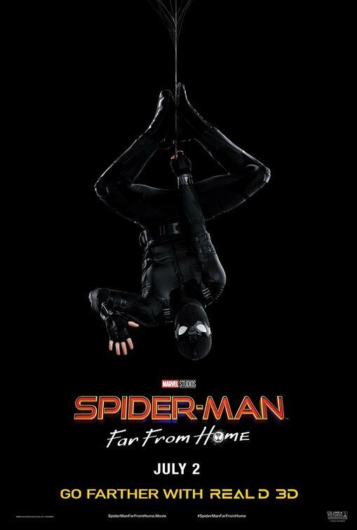 Cartel Traje negro #2 de 'Spider-Man: Lejos de casa'