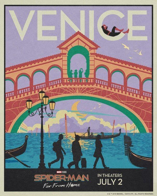 Cartel Postal Venecia de 'Spider-Man: Lejos de casa'