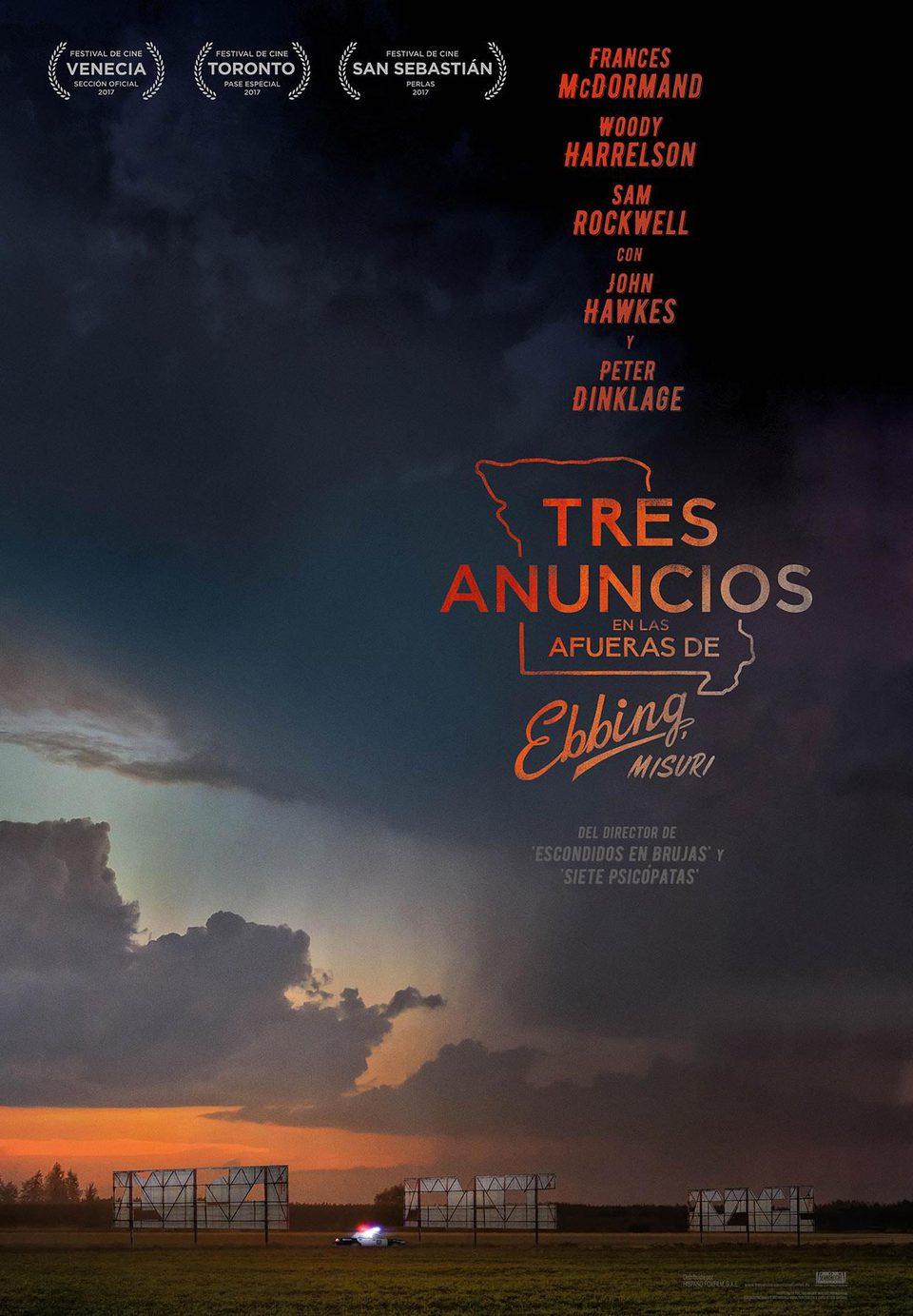 Cartel España de 'Tres anuncios en las afueras'