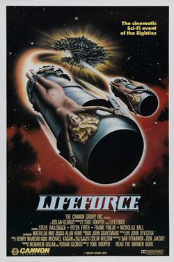Cartel de Lifeforce, fuerza vital
