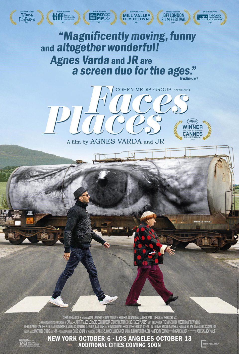 Cartel Faces Places de 'Caras y lugares'