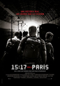 Cartel de 15:17 Tren a Paris