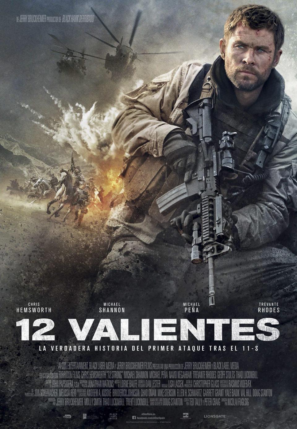 Cartel España de '12 Valientes'