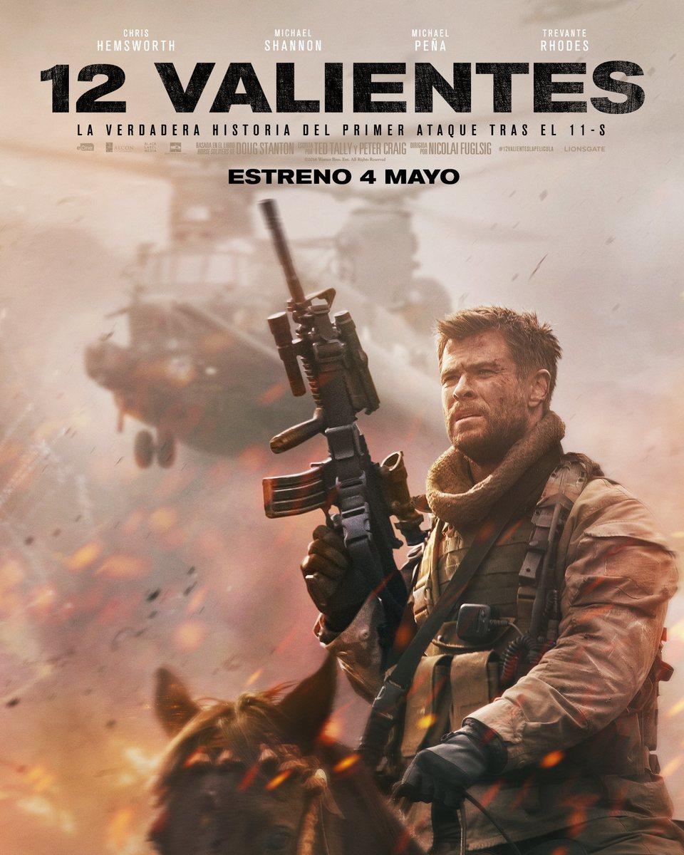 Cartel Chris Hemsworth España de '12 Valientes'