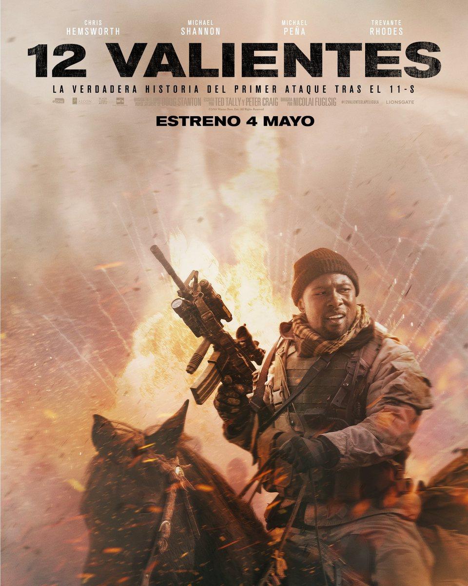 Cartel Trevante Rhodes España de '12 Valientes'