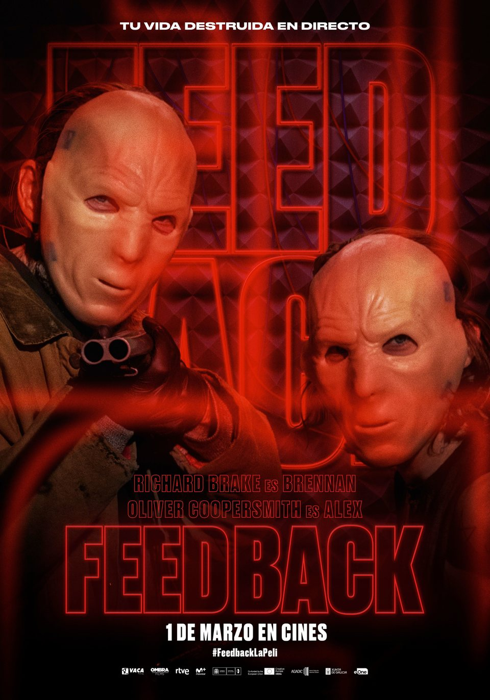 Cartel Brennan y Alex de 'Feedback'