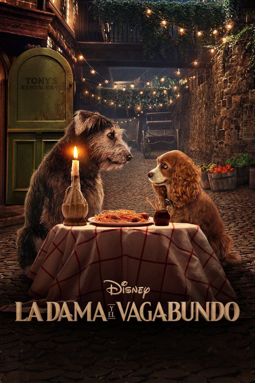 Cartel Español de 'La dama y el vagabundo'