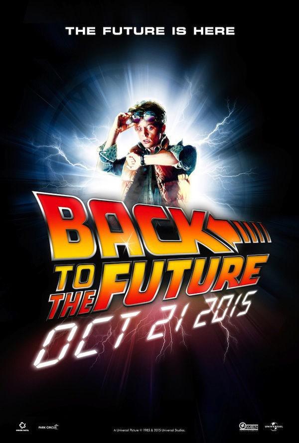 Cartel Estados Unidos de 'Regreso al futuro'