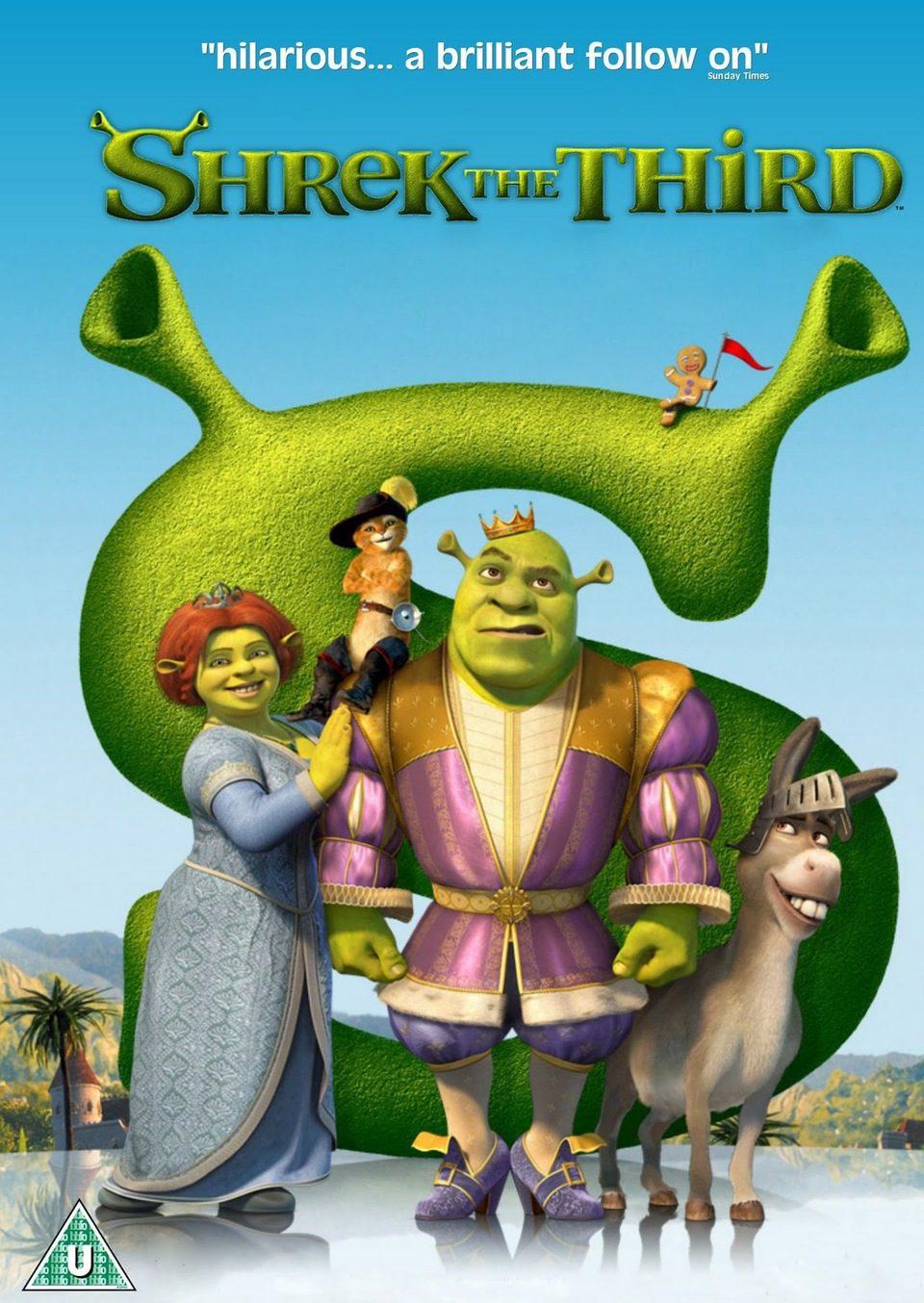 Cartel Reino Unido de 'Shrek Tercero'