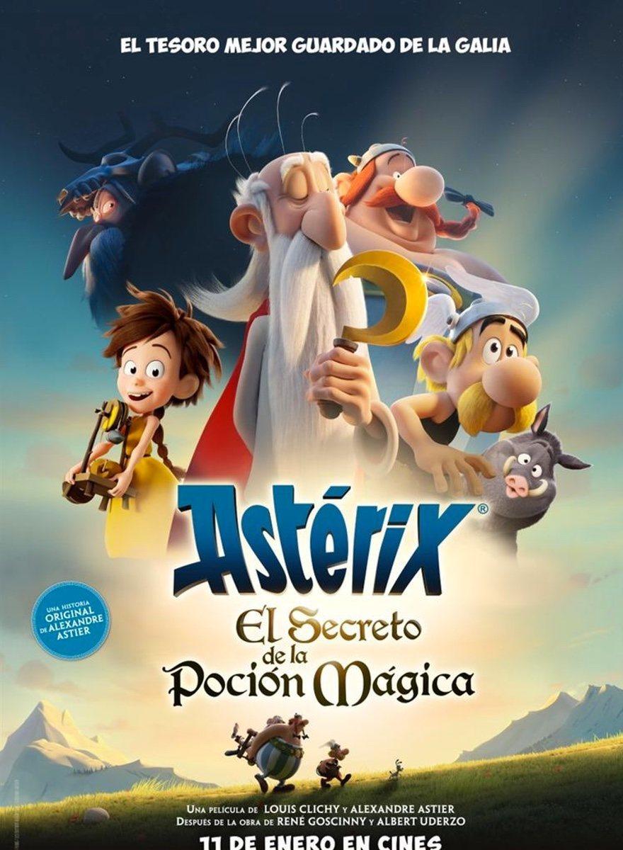 Cartel Cartel España de 'Astérix: El secreto de la poción mágica'