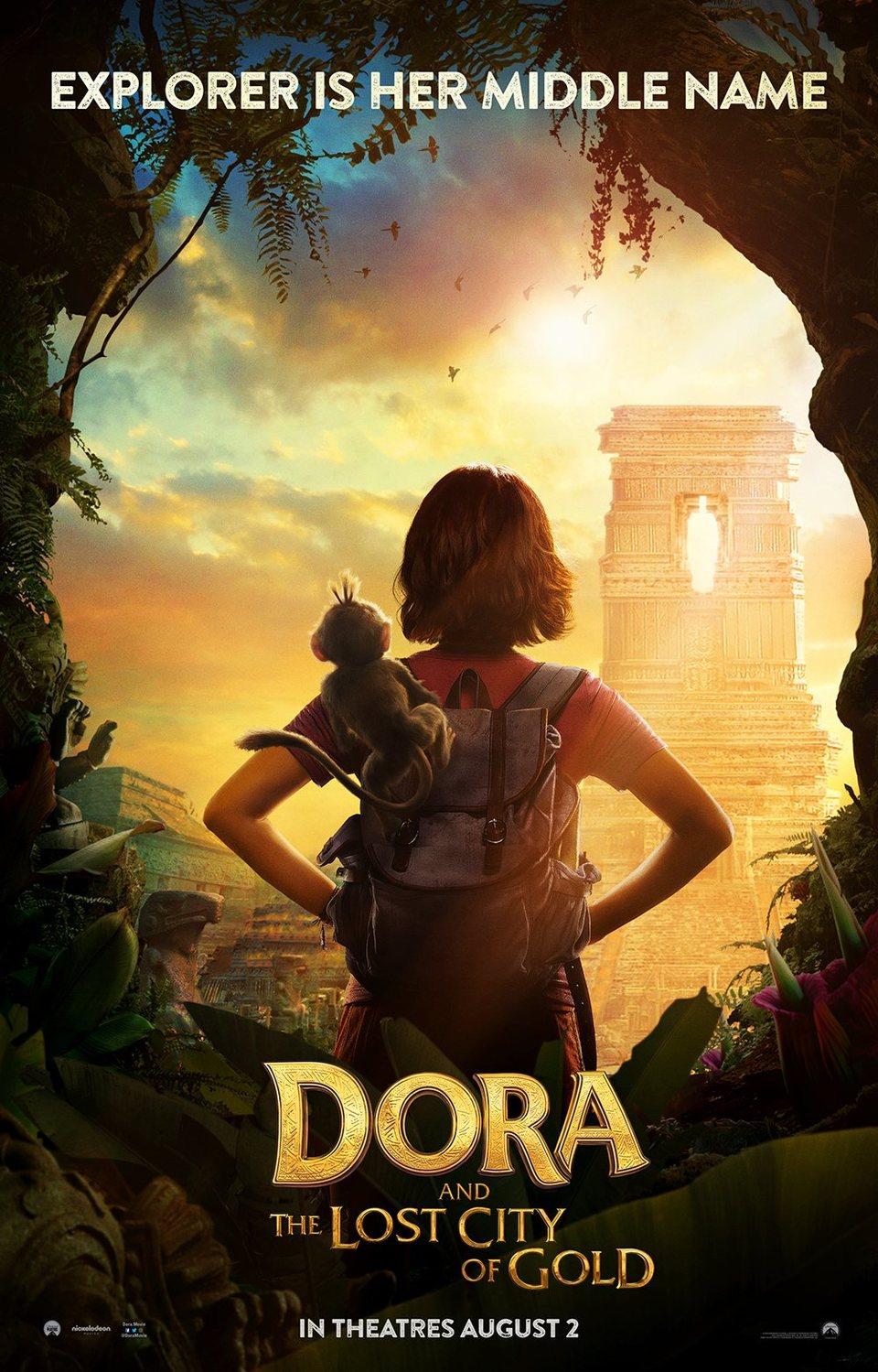 Cartel Estados Unidos de 'Dora y la ciudad perdida'