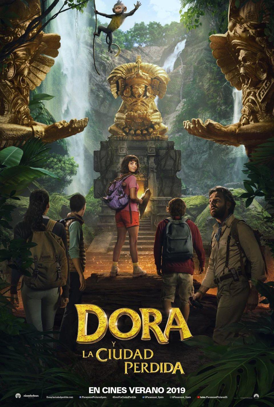 Cartel Teaser España de 'Dora y la ciudad perdida'