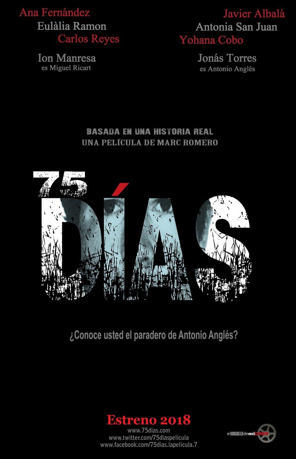 Cartel póster de '75 Días'