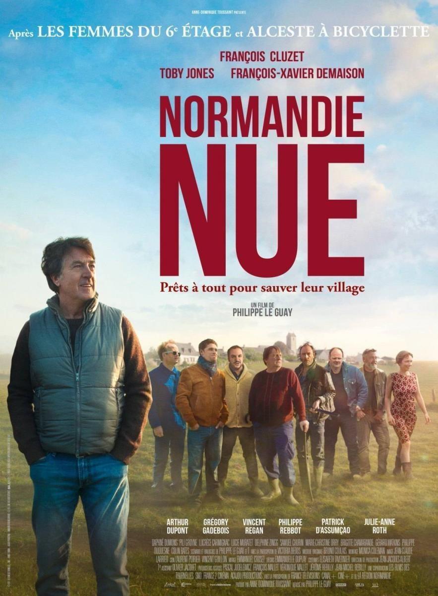 Cartel Francia de 'Normandía al desnudo'