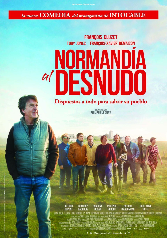Cartel España de 'Normandía al desnudo'