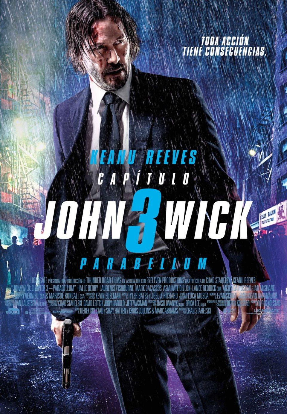 Cartel Poster final España de 'John Wick: Capítulo 3 - Parabellum'