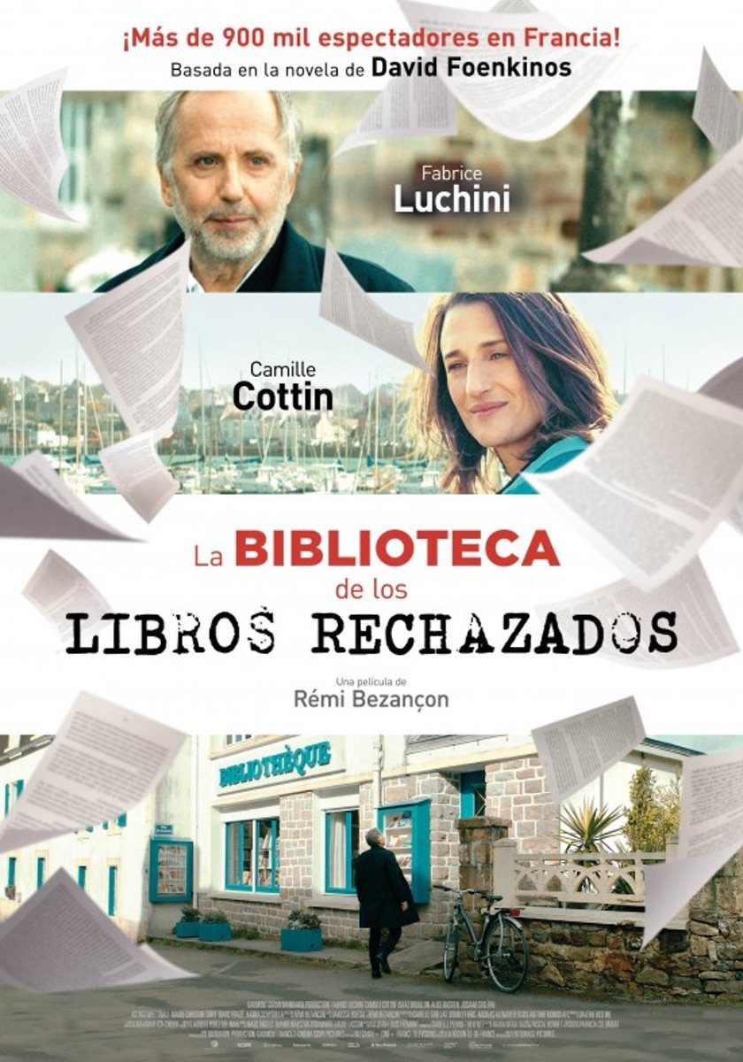 Cartel España de 'La biblioteca de los libros rechazados'