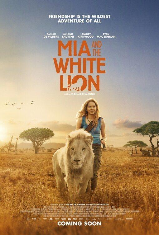 Cartel Reino Unido de 'Mia y el león blanco'