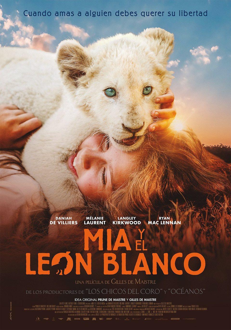 Cartel España de 'Mia y el león blanco'