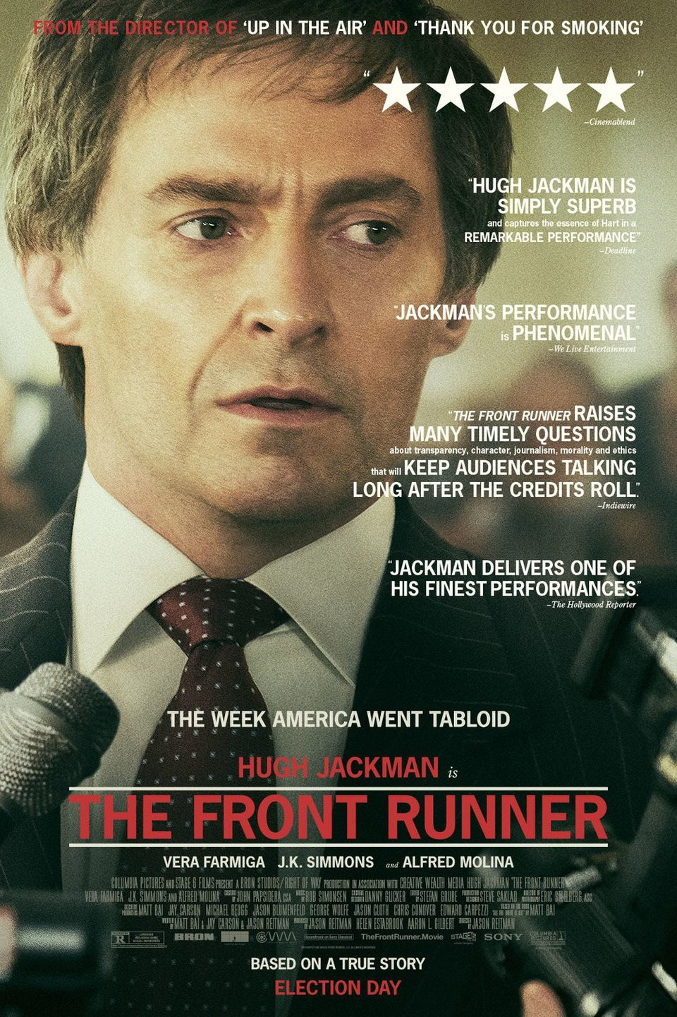 Cartel THE FRONT RUNNER de 'El candidato'
