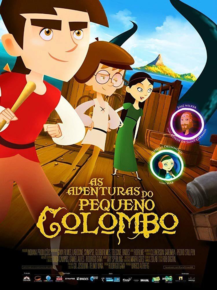 Cartel Brasil de 'Las aventuras del pequeño Colón'