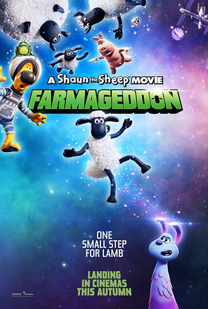 Cartel Poster inglés de 'La oveja Shaun. La película: Granjaguedon'