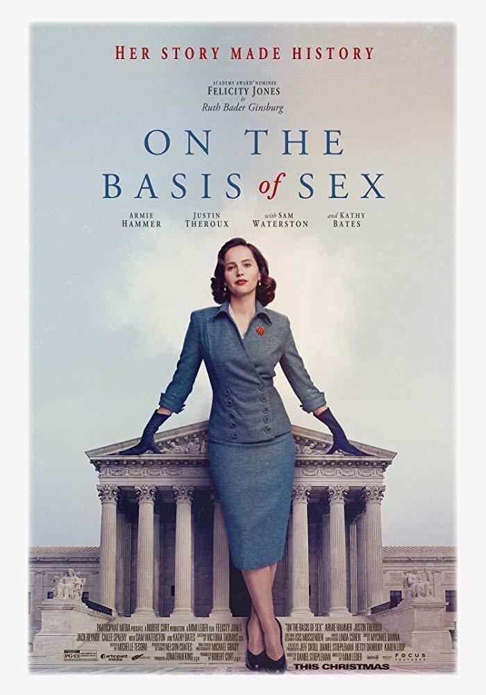 Cartel ON THE BASIS OF SEX de 'Una cuestión de género'