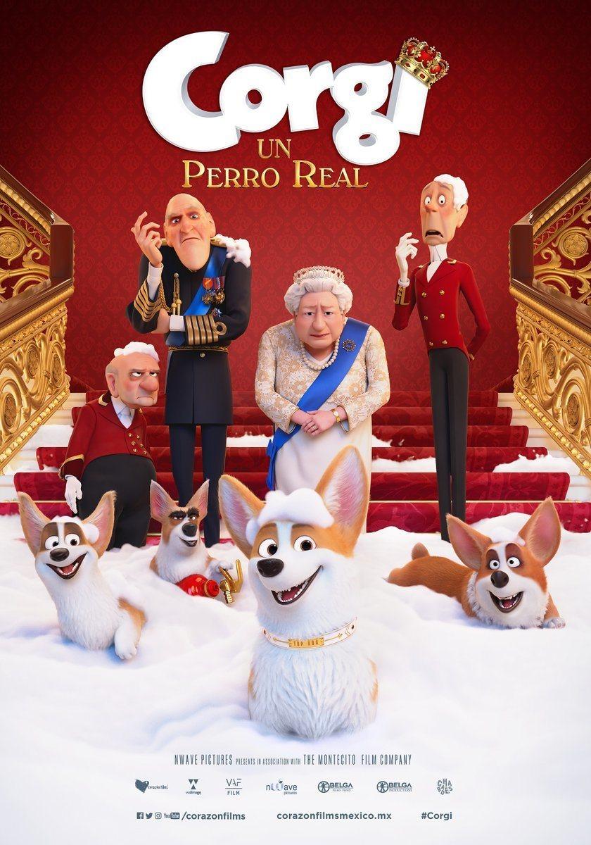 Cartel México de 'Corgi, las mascotas de la reina'