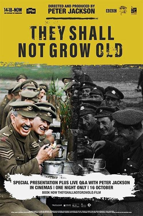 Cartel Poster UK 'They Shall Not Grow Old' de 'They Shall Not Grow Old'