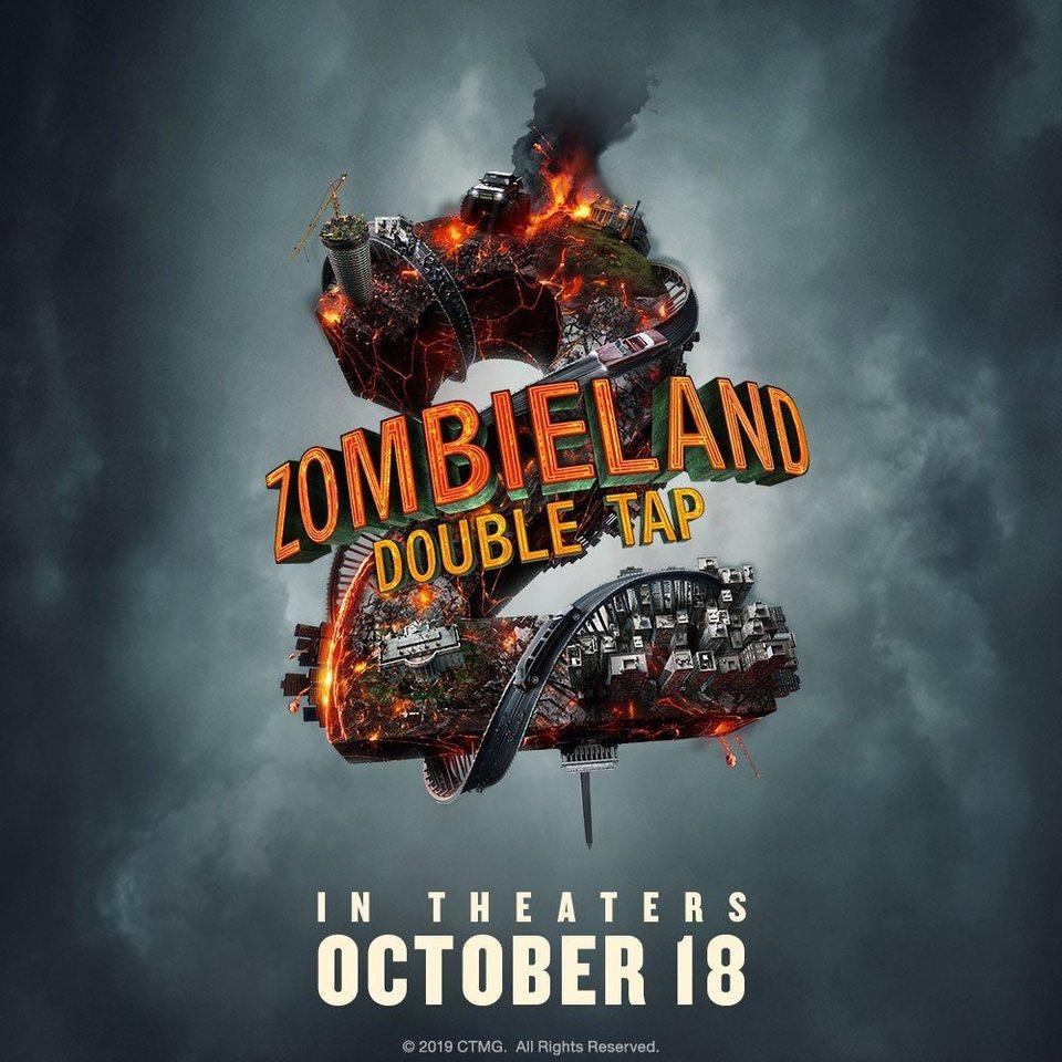 Cartel Teaser con fecha de estreno de 'Zombieland: Mata y Remata'
