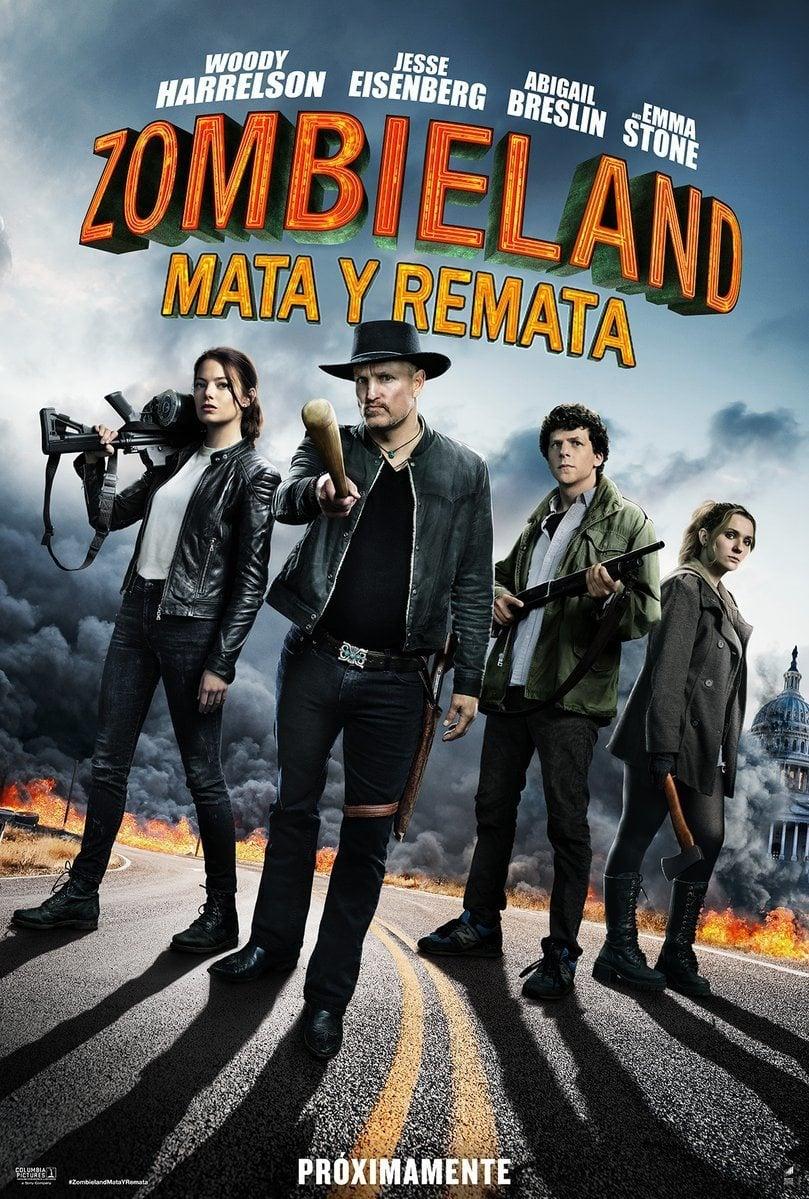 Cartel Poster España de 'Zombieland: Mata y Remata'