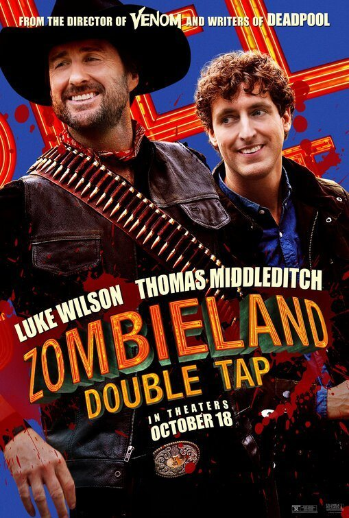 Cartel Luke Wilson y Thomas Middleditch de 'Zombieland: Mata y Remata'