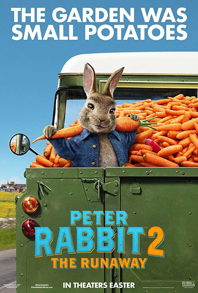 Cartel Póster inglés 'Peter Rabbit 2: The Runaway' de 'Peter Rabbit 2: A la fuga'