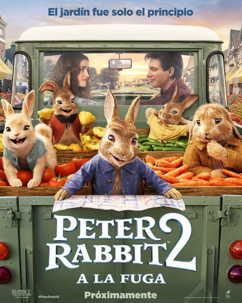 Cartel Póster español 'Peter Rabbit 2: A la fuga' de 'Peter Rabbit 2: A la fuga'