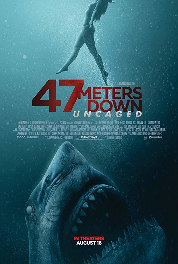 Cartel '47 Meters Down: Uncaged' de 'A 47 metros 2: El terror emerge'