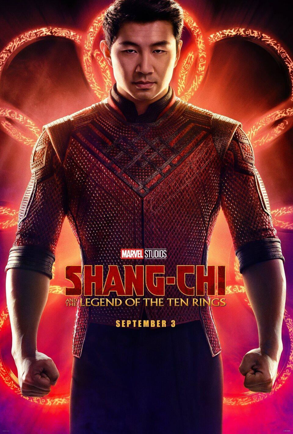 Cartel Teaser de 'Shang-Chi y la leyenda de los diez anillos'